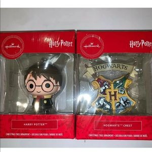 Hallmark Harry Potter 2 Pc Christmas Ornaments @B7